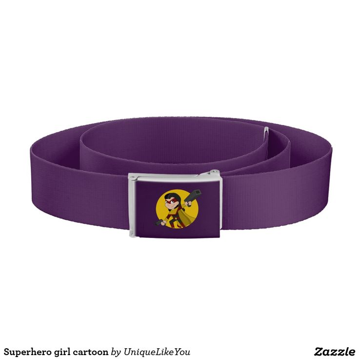Superhero girl cartoon belt