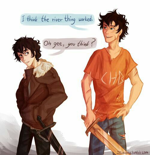 Percy Jackson and Nico Di Angelo