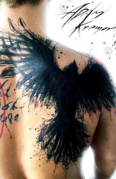 Татуировка ворон / Tattoo raven