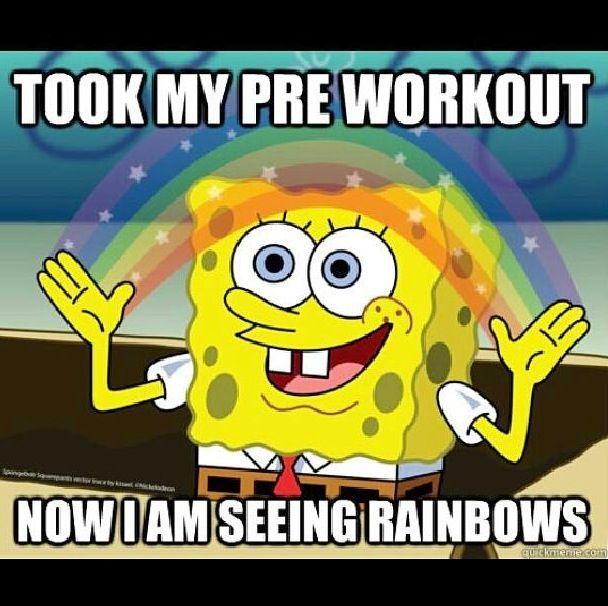 Pre workout spongebob