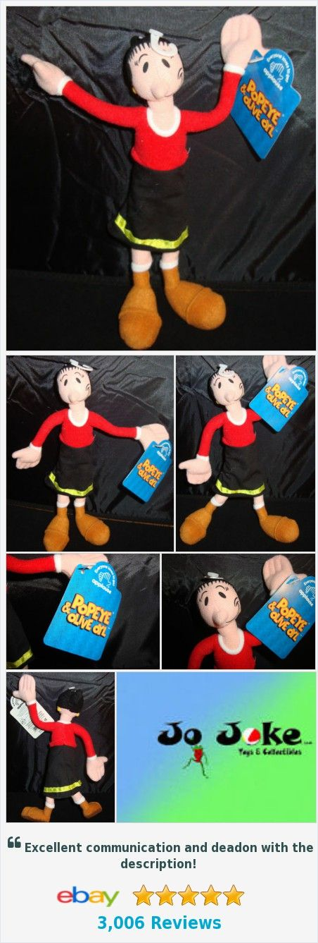 POPEYE-OLIVE OYL-9 INCH-POSEABLE-APPLAUSE-RED TOP-BLACK DRESS-BOOTS-NEW WITH TAG | eBay http://www.ebay.com/itm/381476642051