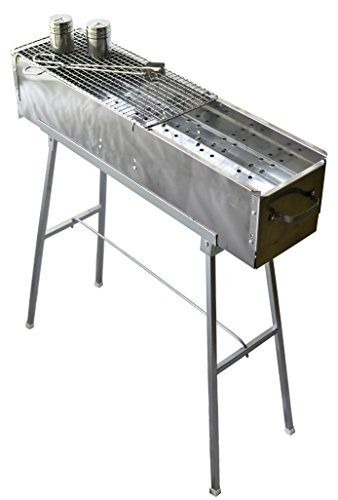 "Party Griller 32"" Stainless Steel Charcoal Grill - Portable BBQ Grill, Yakitori Grill, Kebab Grill, Satay Grill. Makes Juicy Shish Kebab, Shashlik, Spiedini on the Skewer PartyFairyBox http://www.amazon.com/dp/B0161BGMEY/ref=cm_sw_r_pi_dp_vGLswb042VBC8"