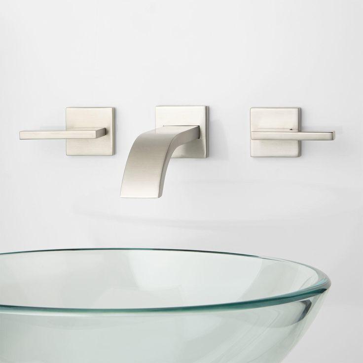 Triton Wall-Mount Bathroom Faucet - Lever Handles - Bathroom