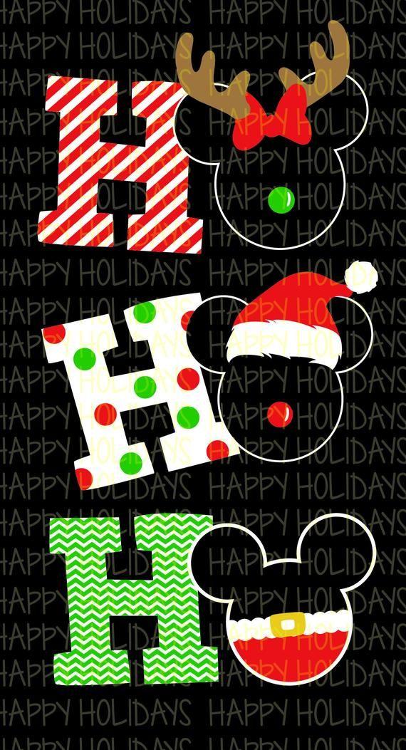 Mickey HO HO HO Mickey mouse christmas, Christmas
