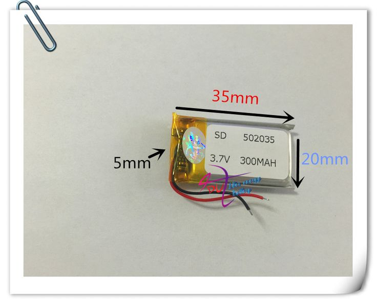 Wholesale 10 pcs 3.7V 300mAh 502035 Lithium Polymer LiPo Rechargeable Battery For Mp3 Mp4 PAD DVD DIY E-book bluetooth