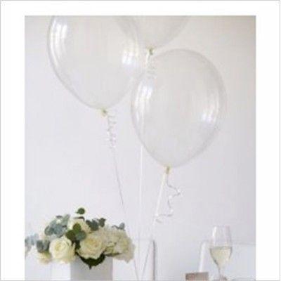 Ballons transparents et leur ruban - Lot de 20 - Décorer Le Bonheur