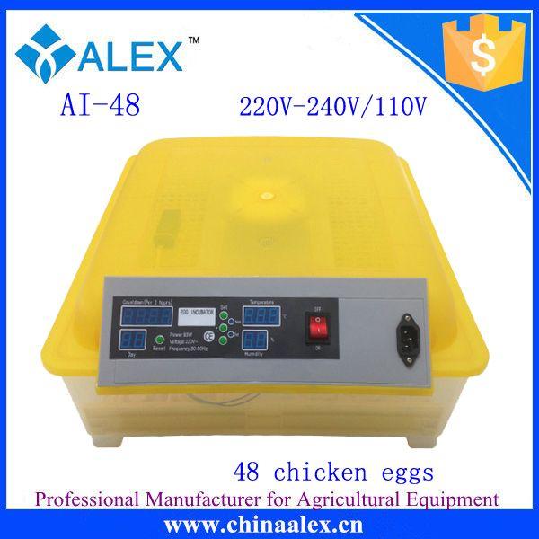 Новый дизайн курица / утка / птица / гусиного яйца мини-инкубатор / брудерная / conveuse с хорошей цене AI-48