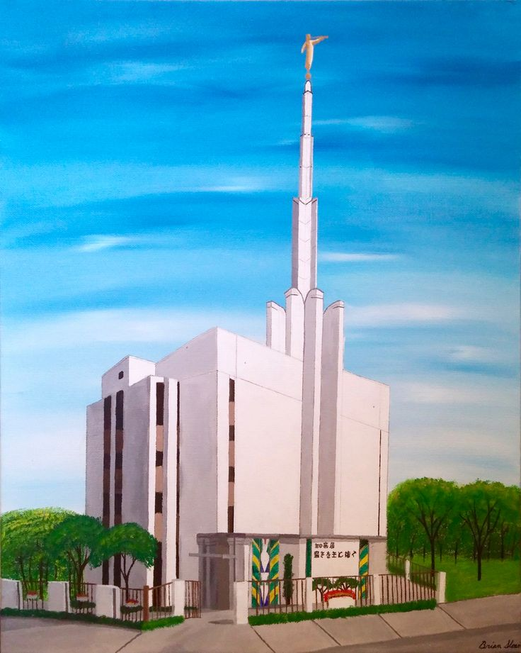 Mormon Temple in Tokyo. Want a temple painted for you? Just message me and we can work out the details!