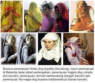 Subhanallah... ternyata jilbab sudah ada sejak jaman sebelum datangnya Islam dan menjadi simbol kehormatan seorang wanita