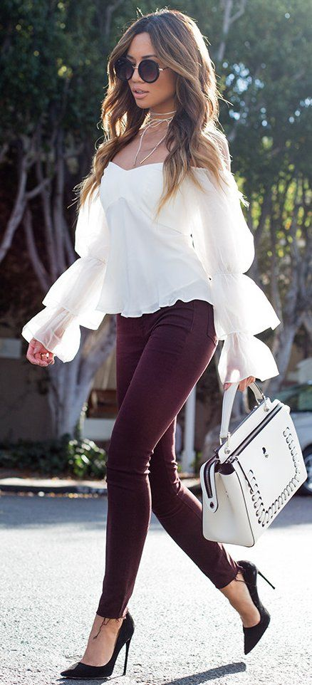 White + Burgundy                                                                             Source