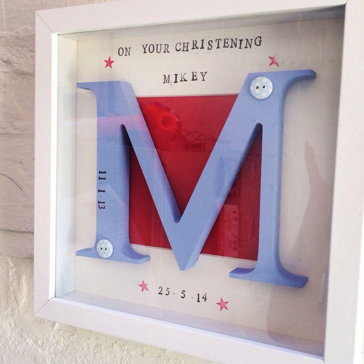 Framed christening box