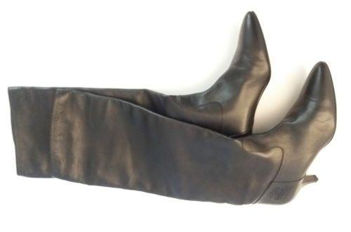 CHANEL Stiefel Echt Leder Boots Gr./ Size 39 Schwarz mit Chanel Logo in Kleidung & Accessoires, Damenschuhe, Stiefel & Stiefeletten   eBay