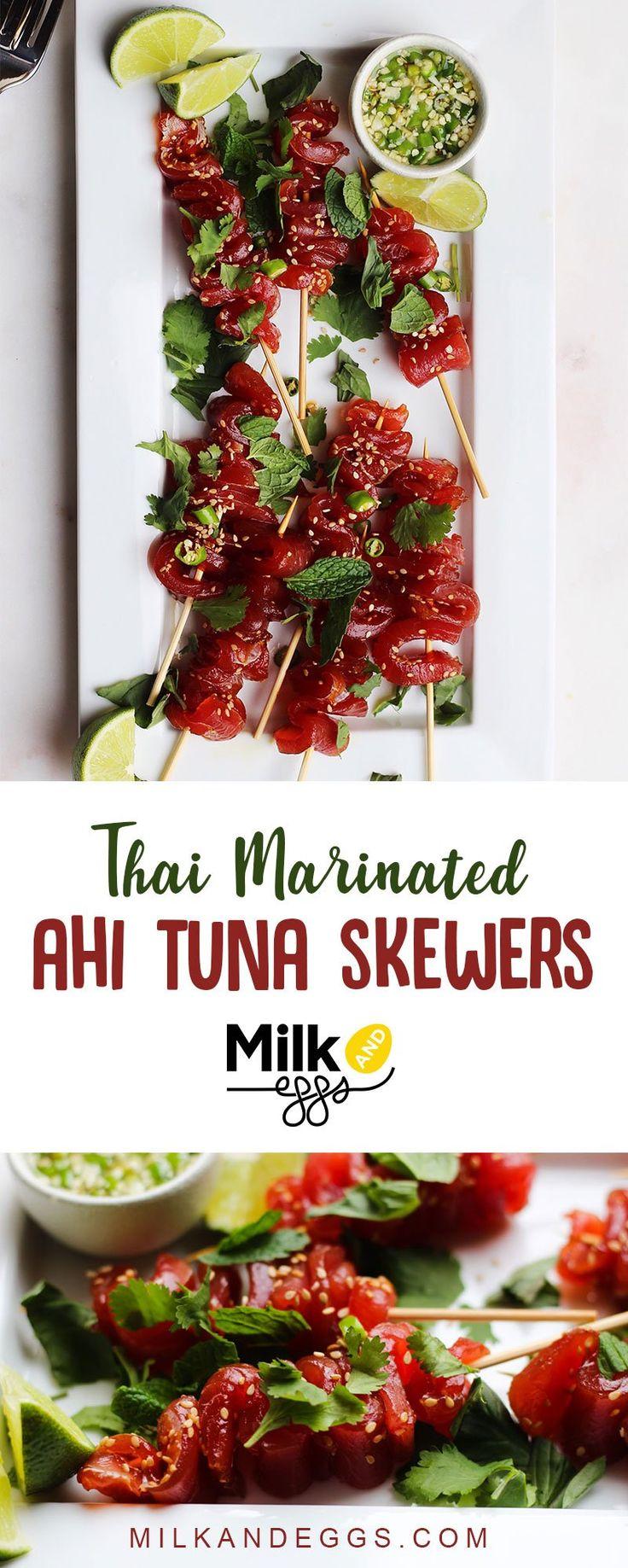 Thai Marinated Ahi Tuna Skewers – Milk and Eggs