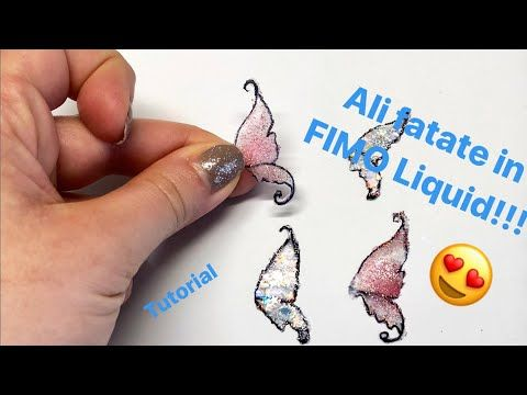 TUTORIAL #4 - Ali in Fimo Liquid / Polymer Clay Wings - YouTube