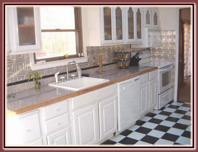 33 Best Tin Backsplash Images On Pinterest  White Kitchens Cool Tin Backsplash For Kitchen Design Decoration