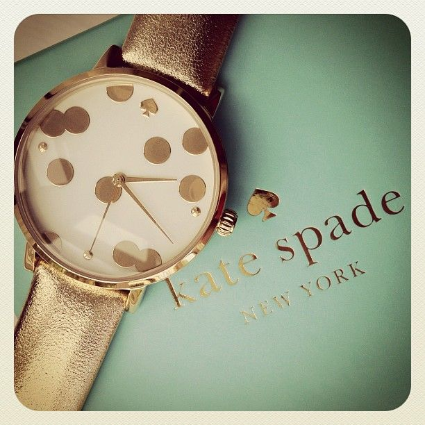 Kate Spade polka dot watch