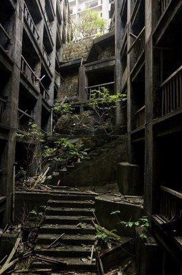 very strange // The Ghost Island of Hashima Japan  The whole island was deserted for 20 years with no solid reason.