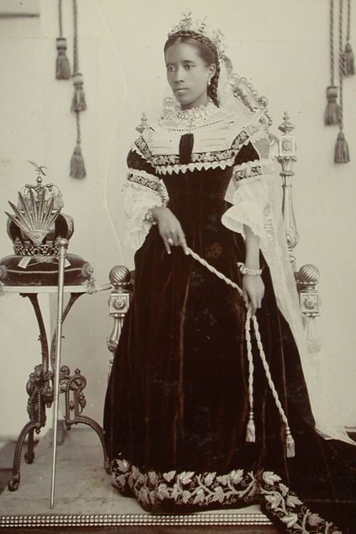 fuckyeahhistorycrushes:  Ranavalona III (1861-1917), last Queen of Madagascar (1883-1897)