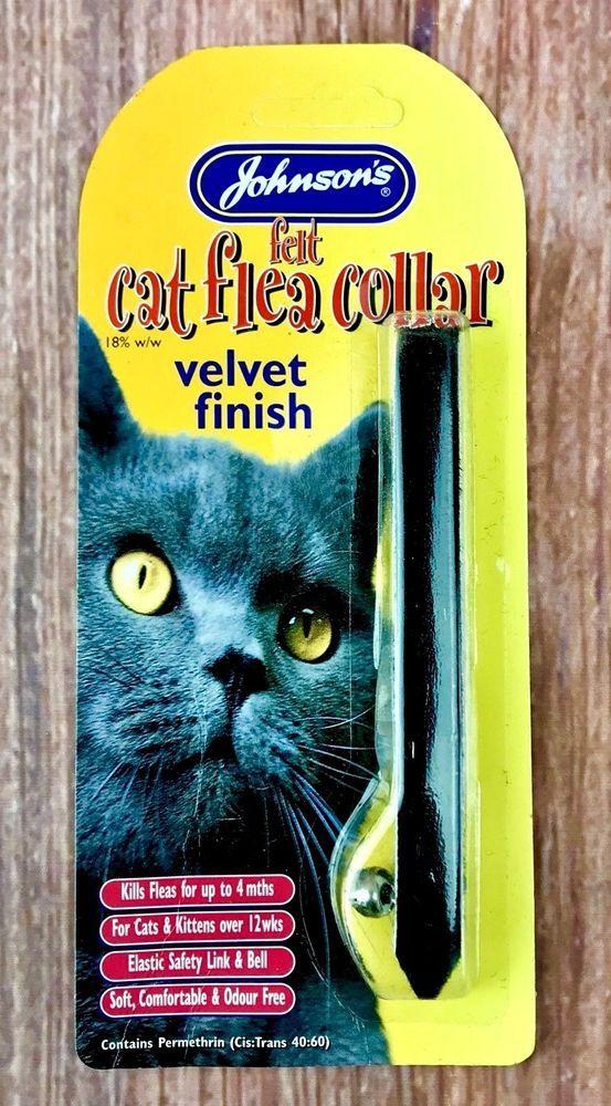 6x Johnson's flea collars for cats kittens over 12 weeks velvet finish kills 4m