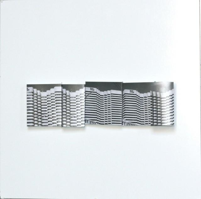 Ramón Serrano, series: Desierte Mirage, Maquette No.5, 2010,  photomaquette, 24x23in © Courtesy Corkin Gallery