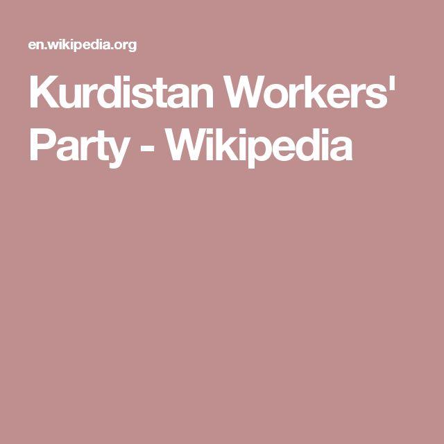 Kurdistan Workers' Party - Wikipedia