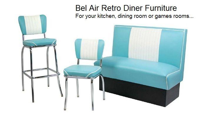 Turquoise Retro Diner Furniture
