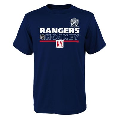 Youth New York Rangers adidas Navy 2018 NHL Winter Classic Authentic Locker T-Shirt
