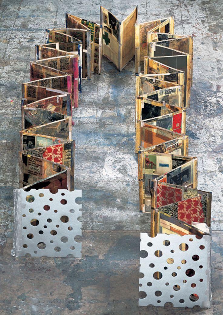 Livros de artistas (livros concertina)