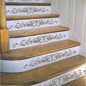 Mooie versiering van de trap