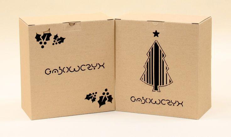 Opakowania na prezenty świąteczne z logo