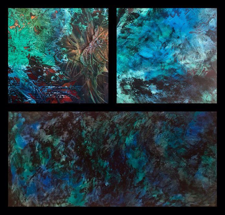 Art abstract deep blue