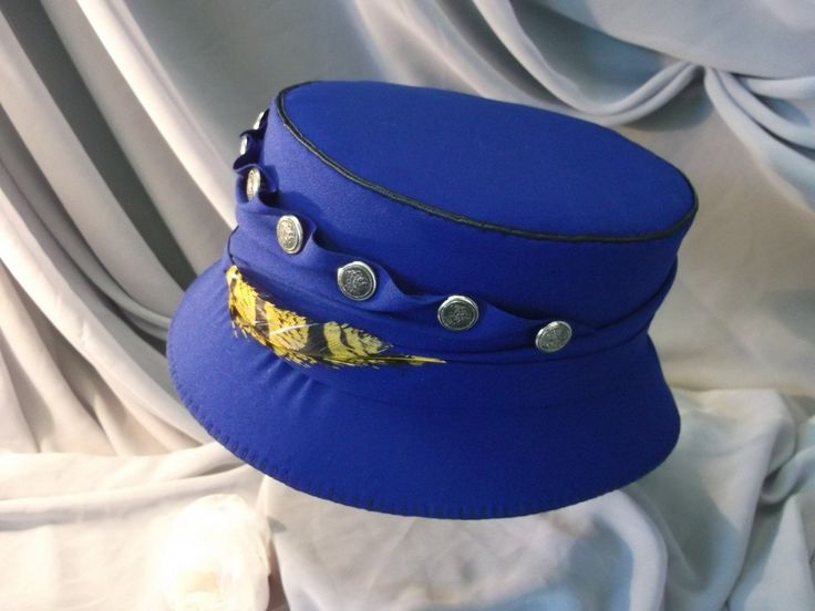 Купить Шляпка синяя. Cделать на заказ. Магазин рукоделия Крафтбург | арт.:4115