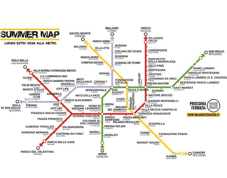 Summer Map, la mappa a tema di Milano dedicata all'estate