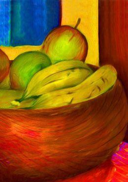 Fruit Apples and Bananas by simon-knott-fine-artist at zippi.co.uk