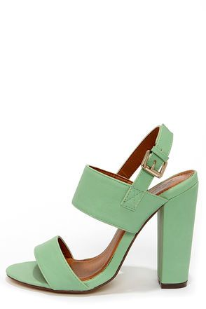 A subtly sweet pair of mint strappy sandals completes your look. http://pbly.co/EA_a125