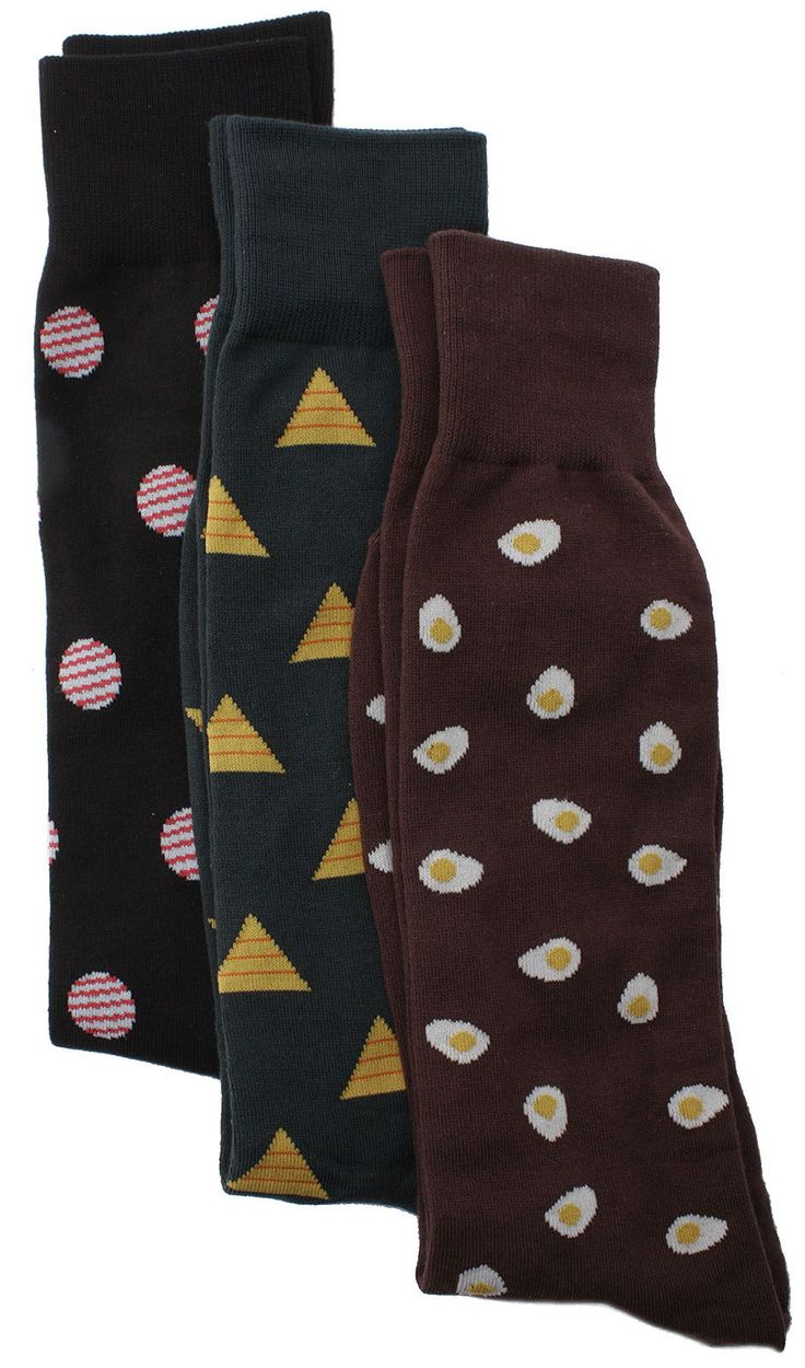 Soxmile Men's Kingsize Pattern Socks 3pk - Dots, Piramids, Eggs - http://soxmile.com/portfolio-view/soxmile-mens-kingsize-pattern-socks-3pk-dots-piramids-eggs/