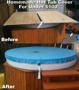 Diy hot tub cover