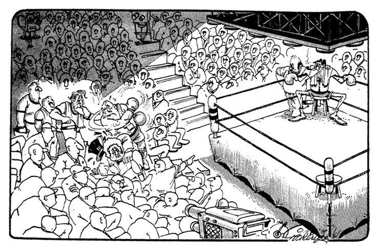 Fraser/Whitlam/Kerr Dismissal Cartoon