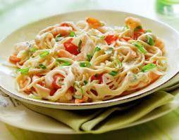 Spaghetti met garnalen, kerstomaatjes en vissaus recept - Pasta - Eten Gerechten - Recepten Vandaag