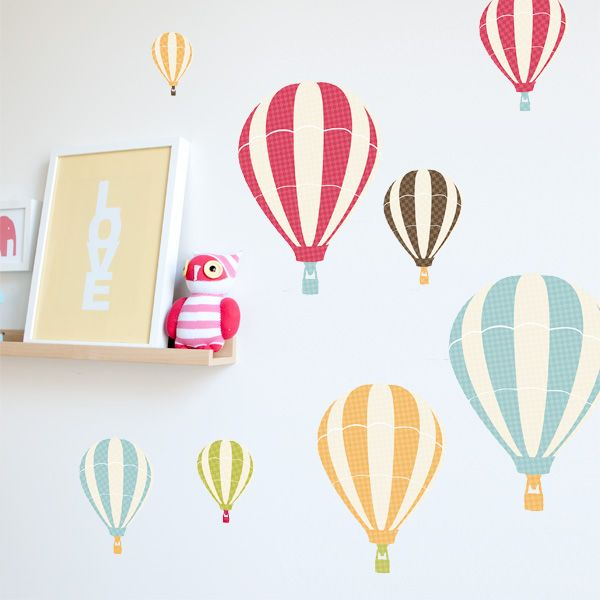 Hot Air Balloon Wall Stickers   Contemporary   Decals     By 41 Orchard On  Houzz