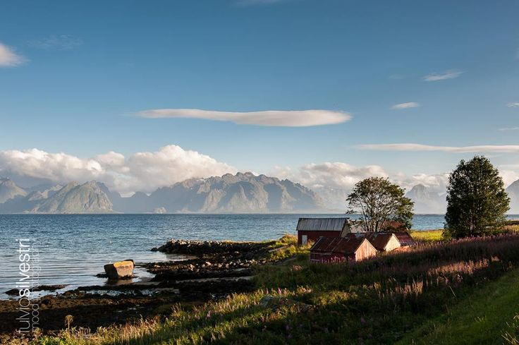 Gorgeous sunset on one of our first rides in the Lofoten area, by Fulvio Silvestri