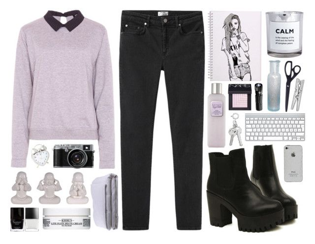 """""""Somebody To You"""" by discxnnect-ed ❤ liked on Polyvore featuring NARS Cosmetics, Poppy Lux, Acne Studios, H&M, Frette, Laura Mercier, HAY, Kiehl's, Butter London and Monki"""