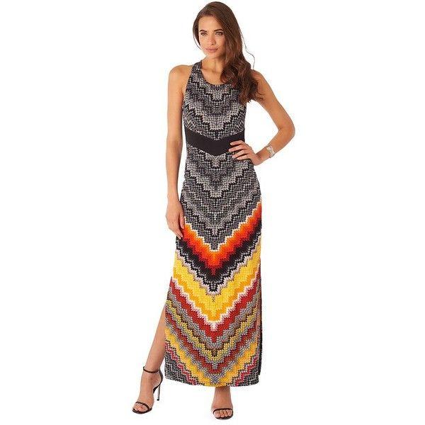 Women's Indication by ECI Chevron Maxi Dress, Size: Medium, Orange Oth