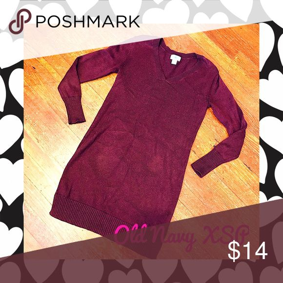 New Old Navy Burgundy Sweater Dress This dress is like new and never worn. In Excellent condition. Don't like the price, Make me an offer 💸 you don't know if you don't ask... I do bundle offers 🎉 Fast same or next day shipping 📦💨 Old Navy Dresses