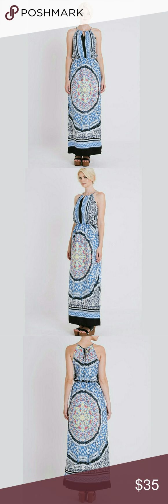 1856DR2 TANK MAXI DRESS AVAILABLE: S-M-L  BRAND NEW Geometric print, diamante, tank maxi dress with tied keyhole  ?PLEASE LET ME KNOW WHAT SIZE YOU WOULD WANT TO PURCHASE? Dresses Maxi
