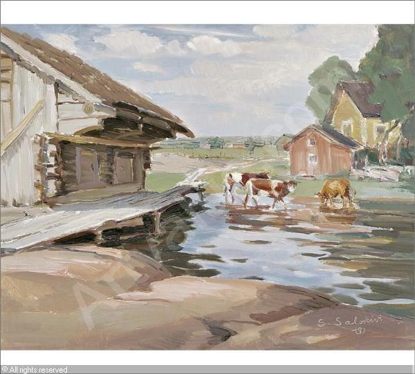 Santeri Salokivi (1886-1940) - Finland - Finnish cows
