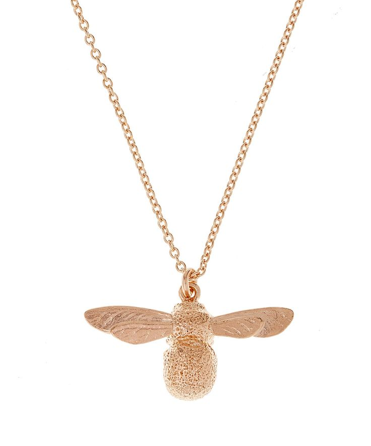 Alex Monroe Rose Gold Baby Bee Necklace | Accessories | Liberty.co.uk