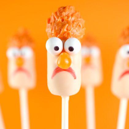 Muppets Beaker cake pops