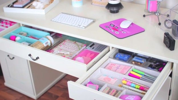 17 best ideas about teen desk organization on pinterest - Cute ways to organize your bedroom ...