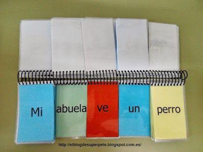 El libro móvil de las frases 5 palabras Manipulativo y editable